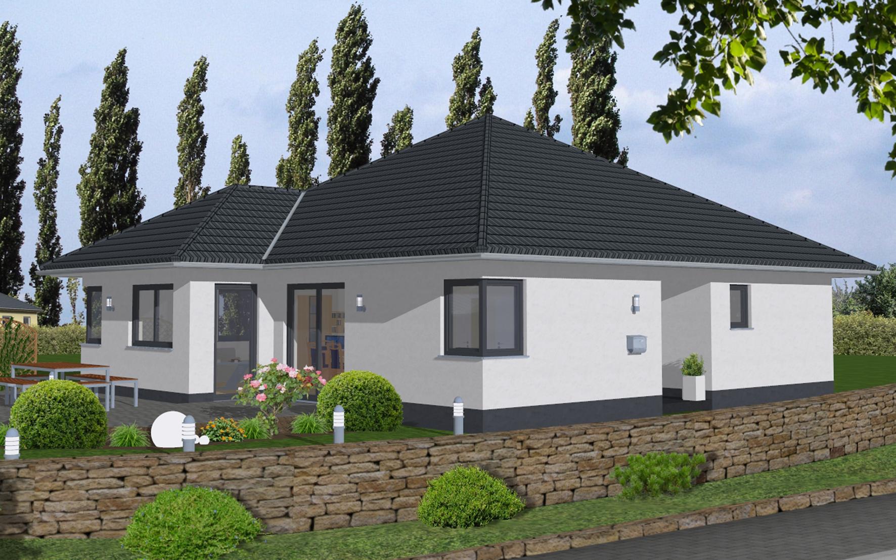 Bungalow 1 260 wapelhorst planen und bauen m hnesee for Bungalow planen
