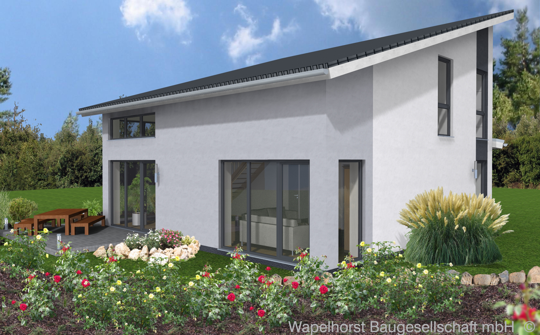 einfamilienhaus 1 020 wapelhorst planen und bauen. Black Bedroom Furniture Sets. Home Design Ideas